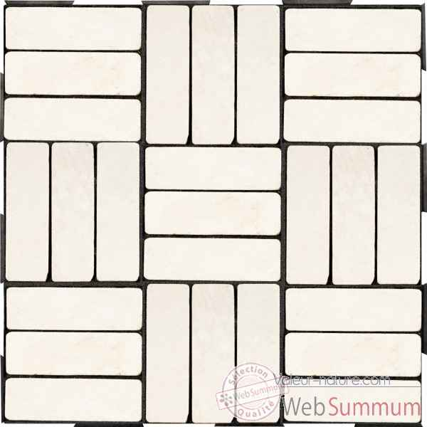 4 Dalles clipsables rectangles blancs a l'italienne Fabulous Garden -SM102088