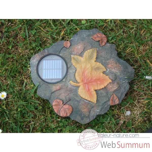 Décoration De Jardin Lumineuse à énergie Solaire Feuille Morte