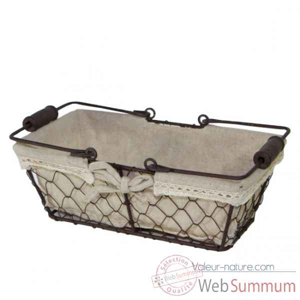 Panier metal rectangulaire Nectarome France -15199W