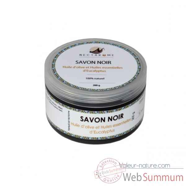Savon noir nature - 200g Nectarome France -10900W