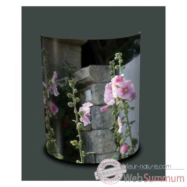 Applique murale nature roses tremieres -NA1336APP