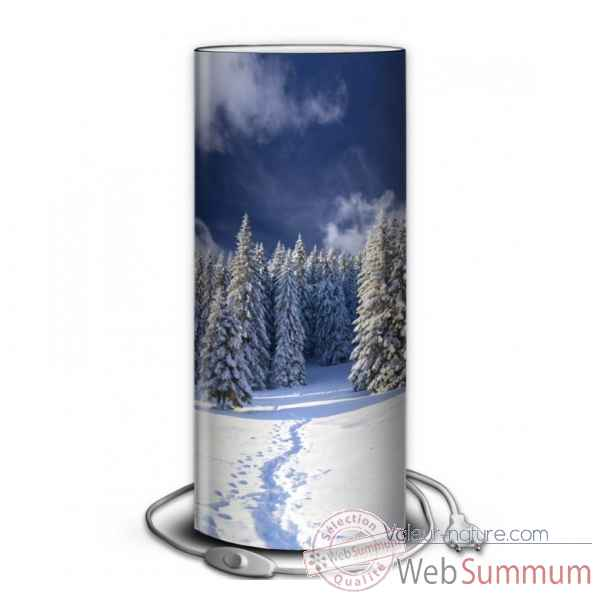 Lampe montagne sapins enneiges -MO1534