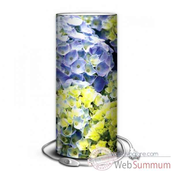 Lampe nature hortensias parmes -NA1212