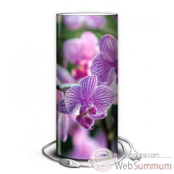 Lampe nature orchidee rose -NA1338
