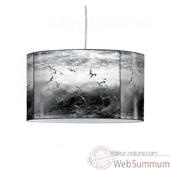 Lampe suspension marine mouette et vague -MA1519SUS