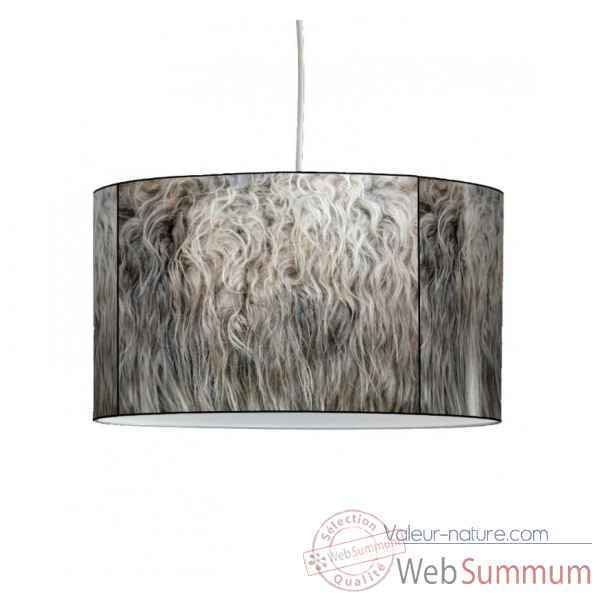 Lampe suspension montagne laine de mouton -MO1537SUS