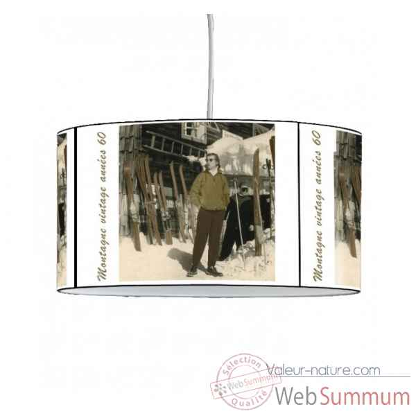 Lampe suspension montagne station vintage -MO1640SUS