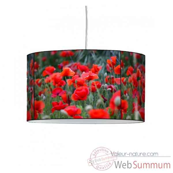 Lampe suspension nature champ de coquelicots -NA1232SUS
