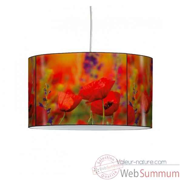 Lampe suspension nature coquelicot -NA1207SUS
