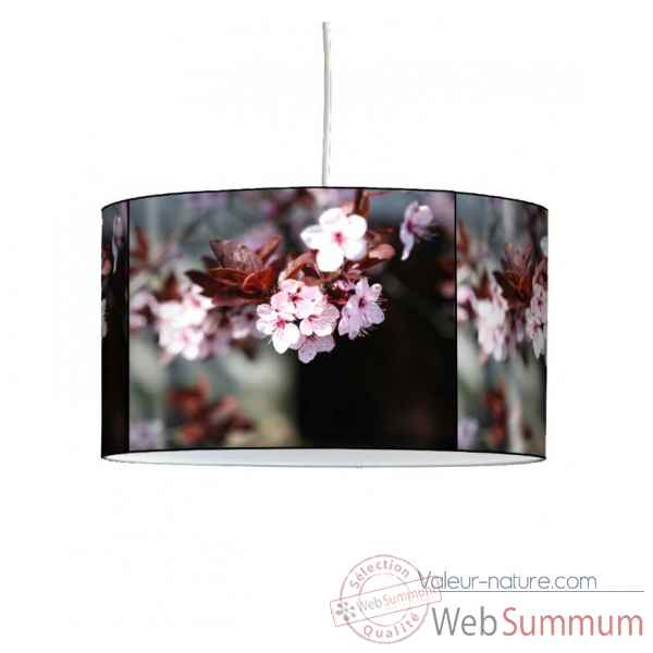 Lampe suspension nature fleurs de prunus -NA1334SUS