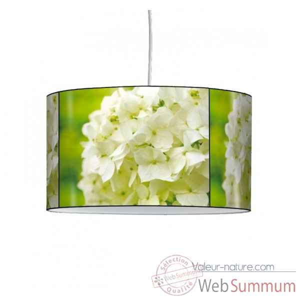 Lampe suspension nature hortensias blancs -NA1217SUS