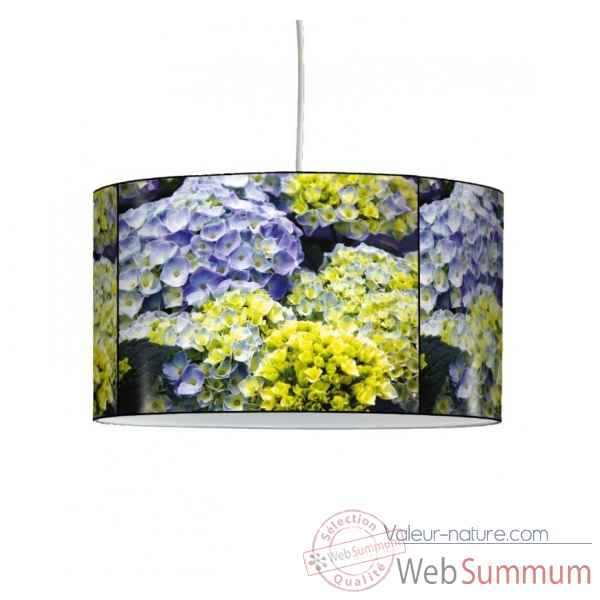 Lampe suspension nature hortensias parmes -NA1212SUS