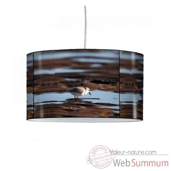 Lampe suspension oiseaux becasseau sanderling -OI1308SUS