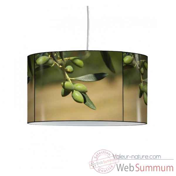 Lampe suspension sud branche et olives -SU1215SUS