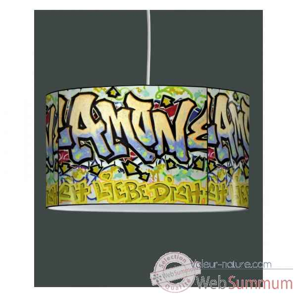 Lampe suspension tendance tags graffitis -TE1213SUS